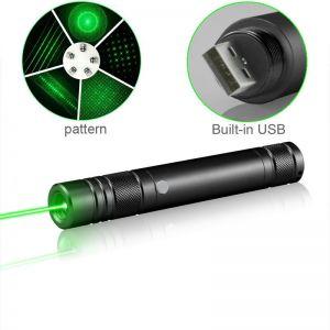 Lazyboy Tragbarer Laserpointer mit eingebauter Batterie und USB-Ladegerät