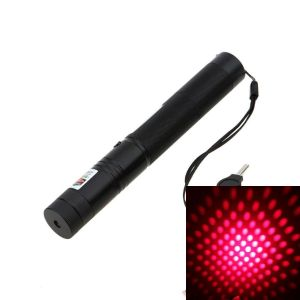 Luciana 200mW 650nm Red Burning Laser Pointer Interchangeable-Lens