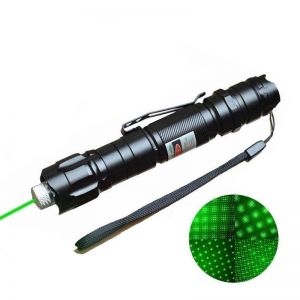 Lux 200mW 532nm Green Laser Pointer Pen with Clip Interchangeable-Lens